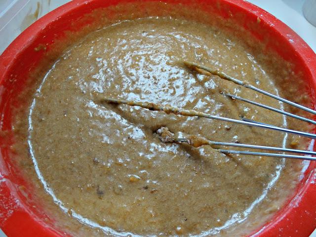 Textura de la mezcla antes de ir al horno