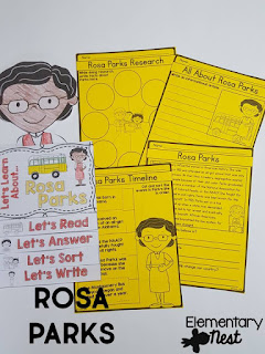 Black History Month Reading Resources- Rosa Parks reading, online research, childrens books, biographies, and more to help teach Black History Month
