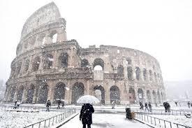 Snow, ice chill Italy