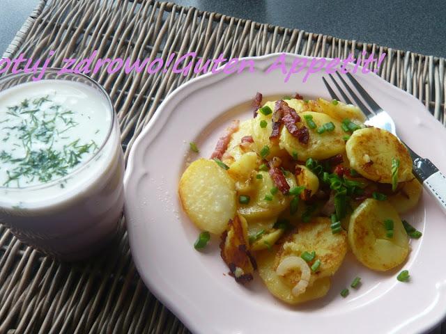 Ziemniaki podsmażane z boczkiem, cebulą i kefirem - Czytaj więcej »