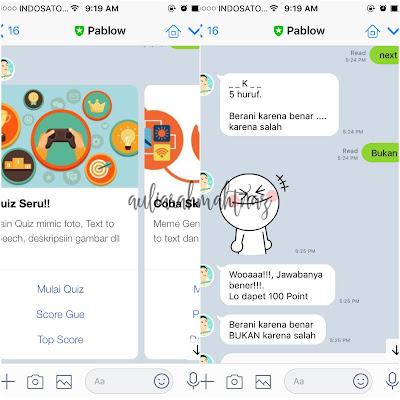 Rekomendasi Chatbot Line Pablow