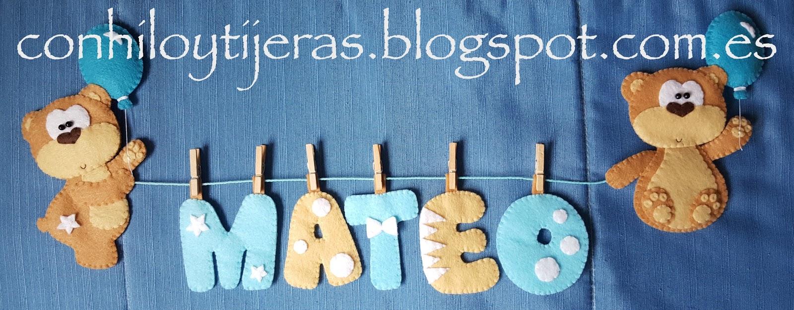 f8cc6a49b Con hilo y tijeras  Bienvenido Mateo!