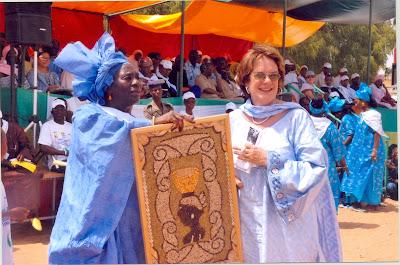 Maimouna Traoré and Molly Melching at the tenth anniversary of the Malicounda Bambara declaration.