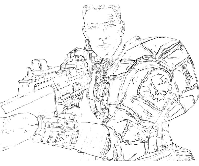 Borderlands coloring pages ~ Borderlands 2 Coloring Pages Sketch Coloring Page