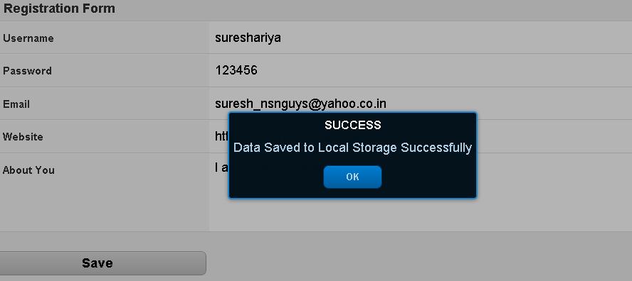 Suresh Kumar Ariya: Save Form Data Locally using Sencha