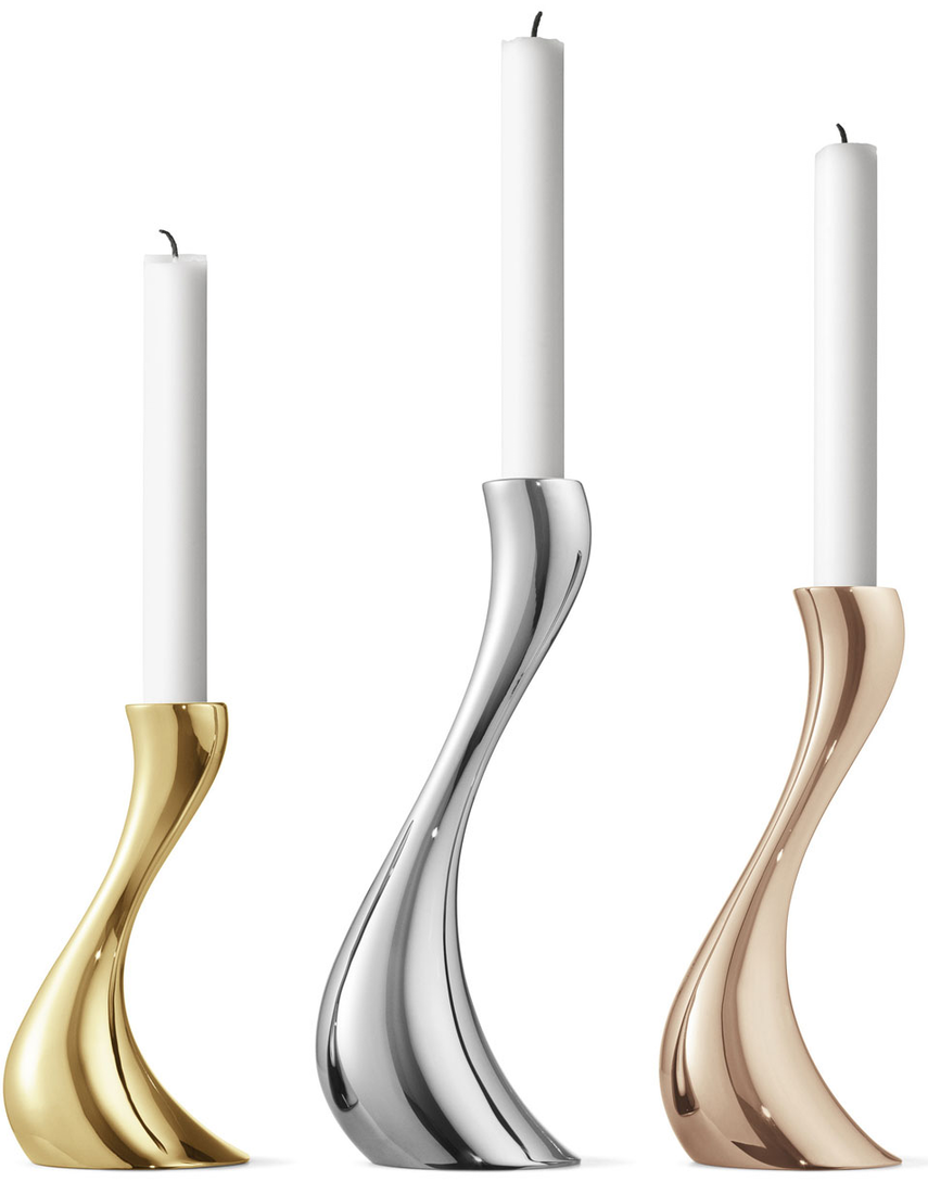 Georg Jensen Cobra Candleholders, Set of 3