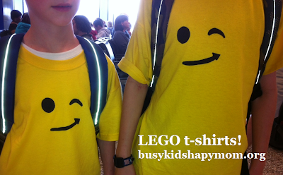 Lego shirt with freezer paper