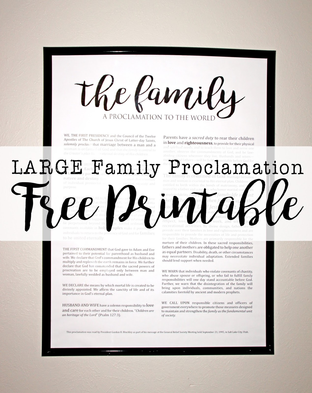 picture regarding The Family a Proclamation to the World Free Printable identify mimiberry creations: Corridor Decor that Provides Centuries