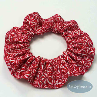 Christmas Dog Scrunchie Ruffle, Peppermint Candy