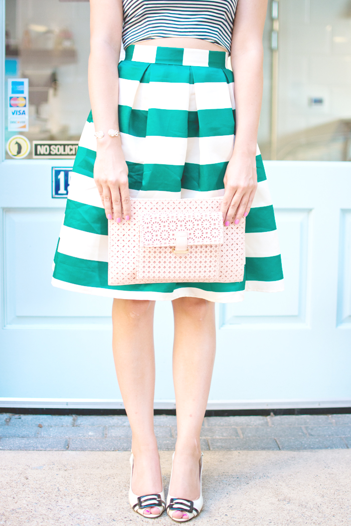 fashion blogger style midi skirt