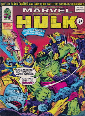 Mighty World of Marvel #216, Glorian and the Toad Men