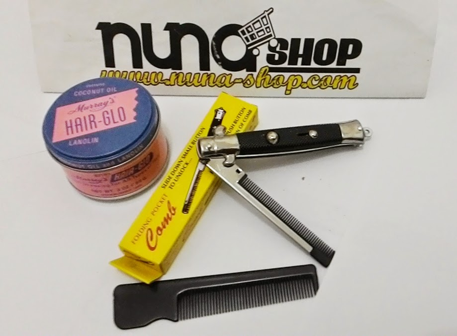 Paket Hemat Pomade Murray's Hair-Glo + Switchblade Comb