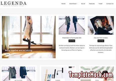legenda fashion blogger template