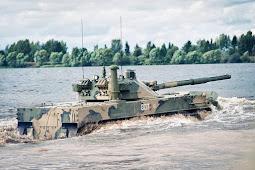 Berita Militer - Disebut Bakal Diakuisisi Indonesia, Inilah 2S25M Sprut-SDM1 Tank Amfibi Ringan dengan Kaliber 125mm