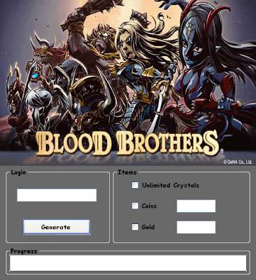 Download Free Blood Brothers Hack (All Versions)Unlimited Crystals,Coins,Gold 100% working and Tested for IOS and Android.