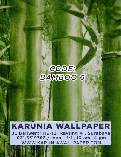 toko jual wallpaper motif bambu
