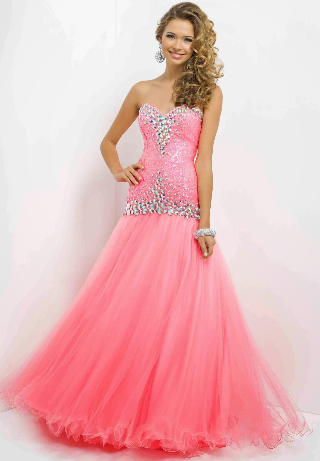 Ideas de vestidos para fiestas   Elegantes vestidos largos de fiesta ...