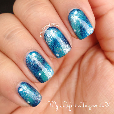 Turquoise-Galaxy-Nail-Art