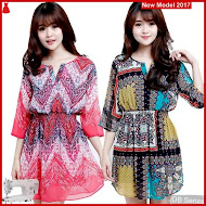 JDB042 FASHION Print Efd Perempuan Dress BMGShop