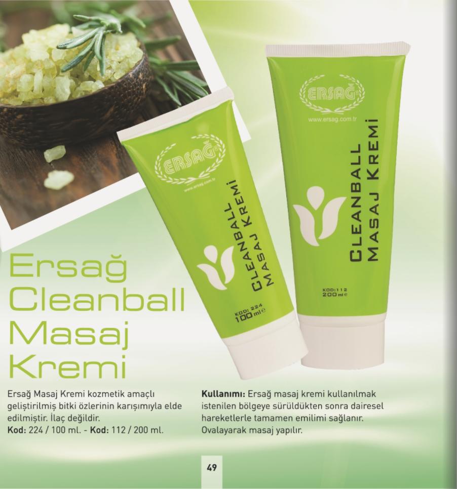 Ersağ Cleanball Masaj Kremi
