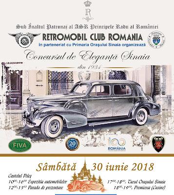programul concurs de eleganta sinaia 2018 masini de epoca