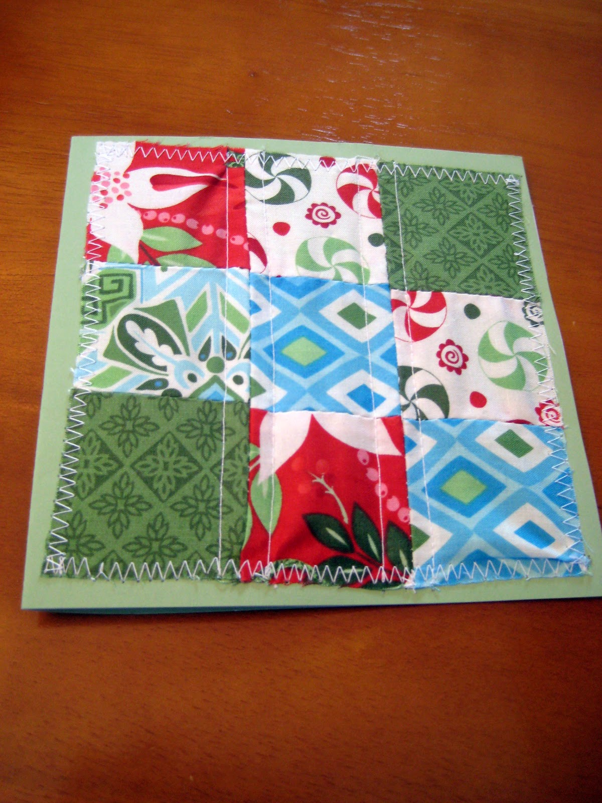 Quilty Habit Tutorial Simple Patchwork Christmas Card