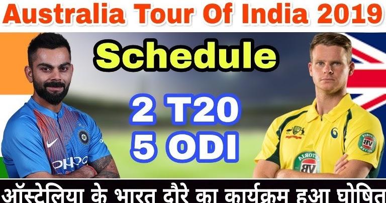 Australia tour of India 2019 Schedule, Squads | Ind vs Aus ...