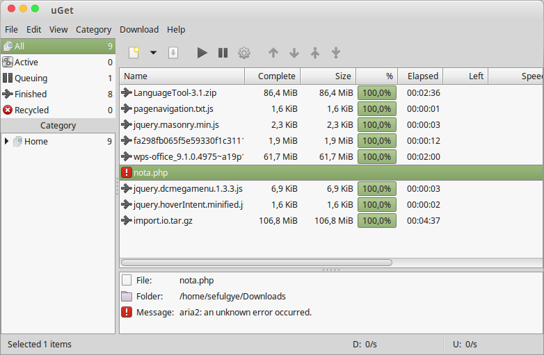 uGet + Aria2 Powerfull Download Manager for Linux