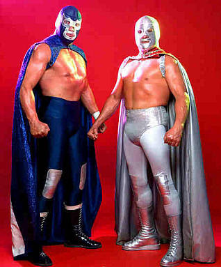 Santo y blue demon.
