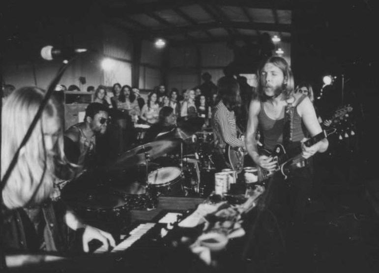 Allman Brothers en la Warehouse en NOLA en diciembre de 1970.