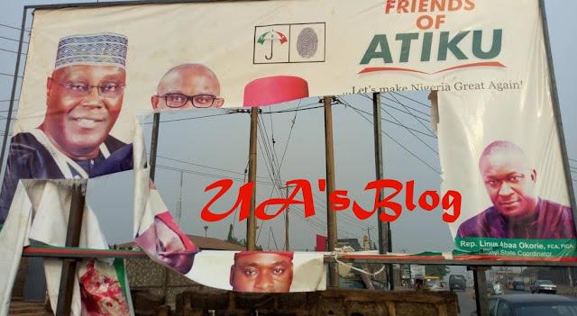 Shock As Hoodlums Attack Atiku's Campaign Office, Destroy Billboards (Photo)