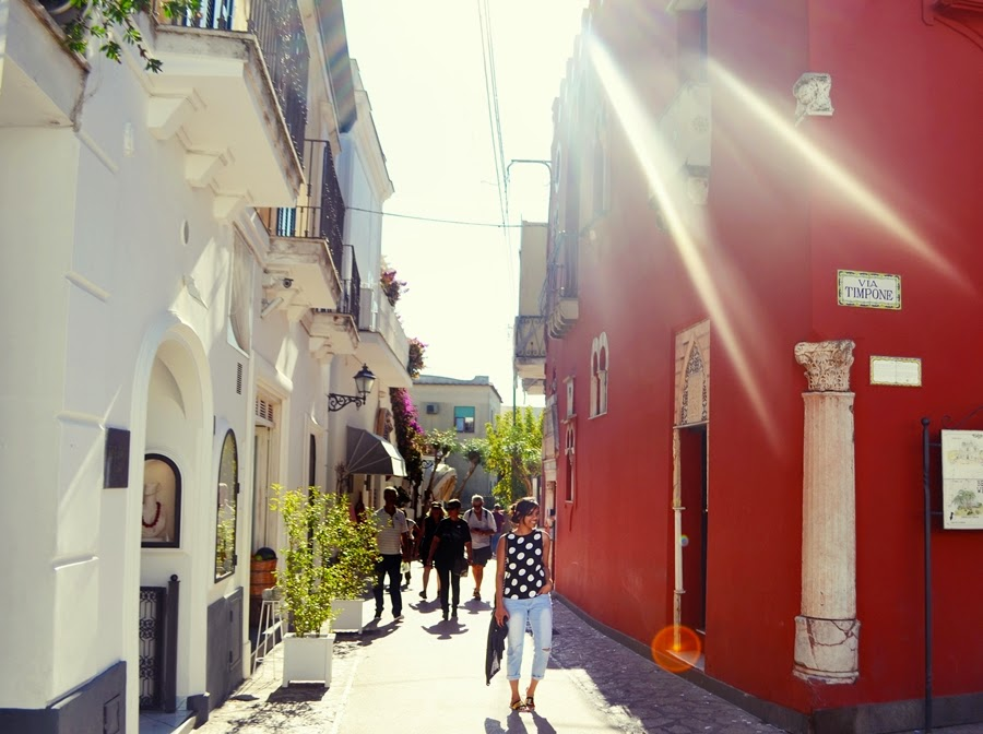 Streets of Capri in Italy