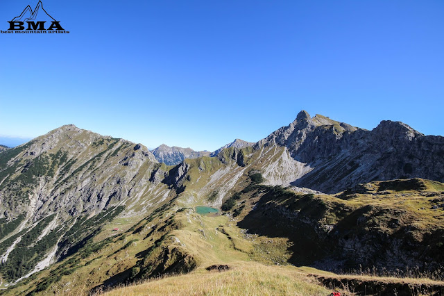 Gaisalpsee und Nebelhorn vom Gaisalphorn wandern Bayern Oberstdorf BMA Best Mountain Artists