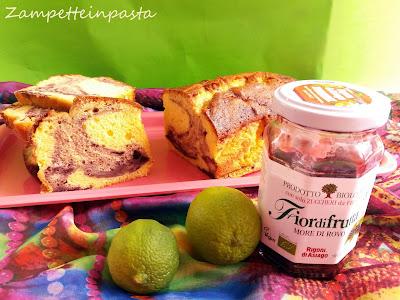 Plumcake con lime variegato alla marmellata