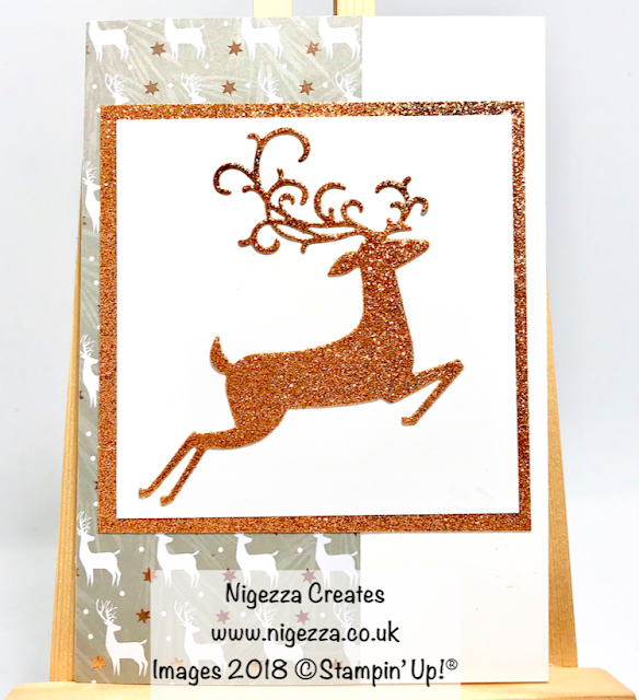 Simple Quick Dashing Deer Christmas Card Nigezza Creates