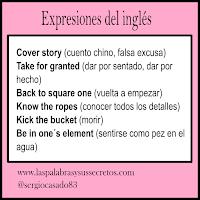Modismos del inglés, inglés, aprender inglés, expresiones del inglés, idioms