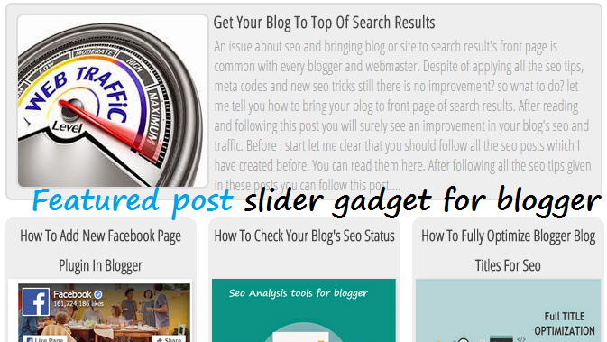 """Featured Posts"" Slider Gadget For Blogger"