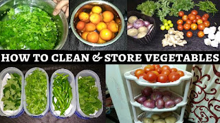 how to clean and store vegetables