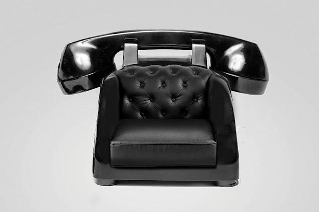 Sillon exotico en forma de telefono