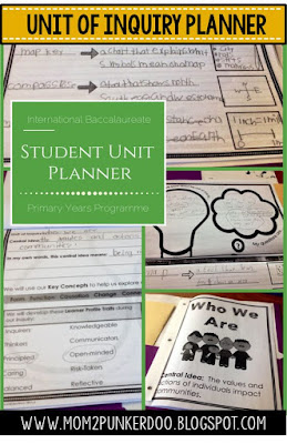 Unit of Inquiry Student Planner
