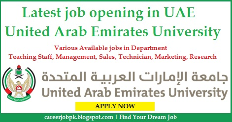 Latest jobs in United Arab Emirates University