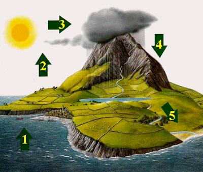 دورة الماء في الطبيعة - الجزائر - التربية العلميّة والتكنولوجية - السنة الرابعة ابتدائي - الموسوعة المدرسية