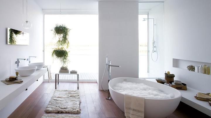 Bañeras modernas en ambientes grandes