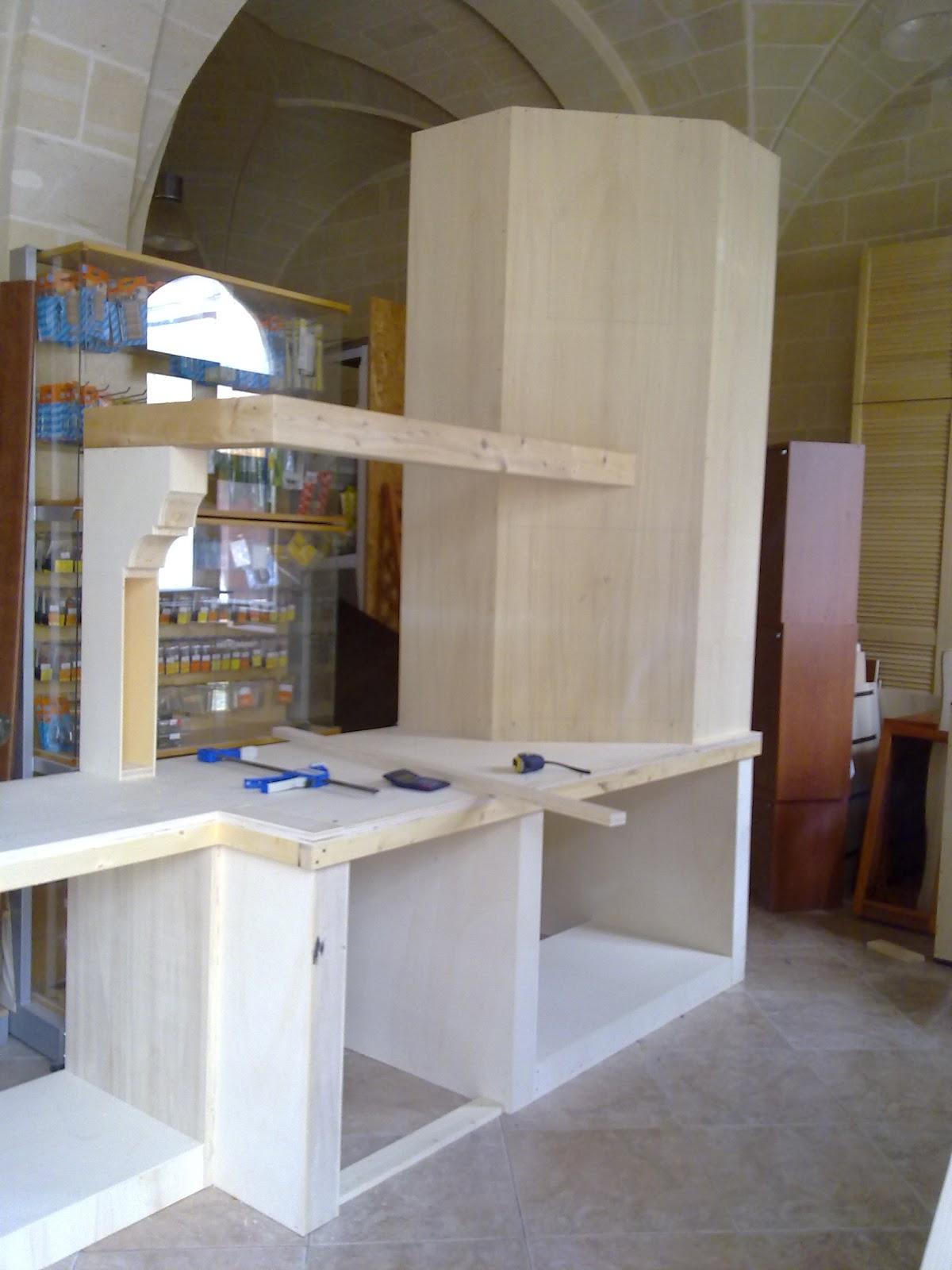 Fai da te hobby legno cucina in finta muratura - Fai da te mobili cucina ...