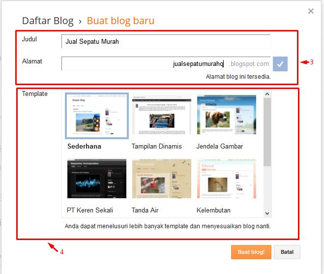 cara bikin blog di blogspot
