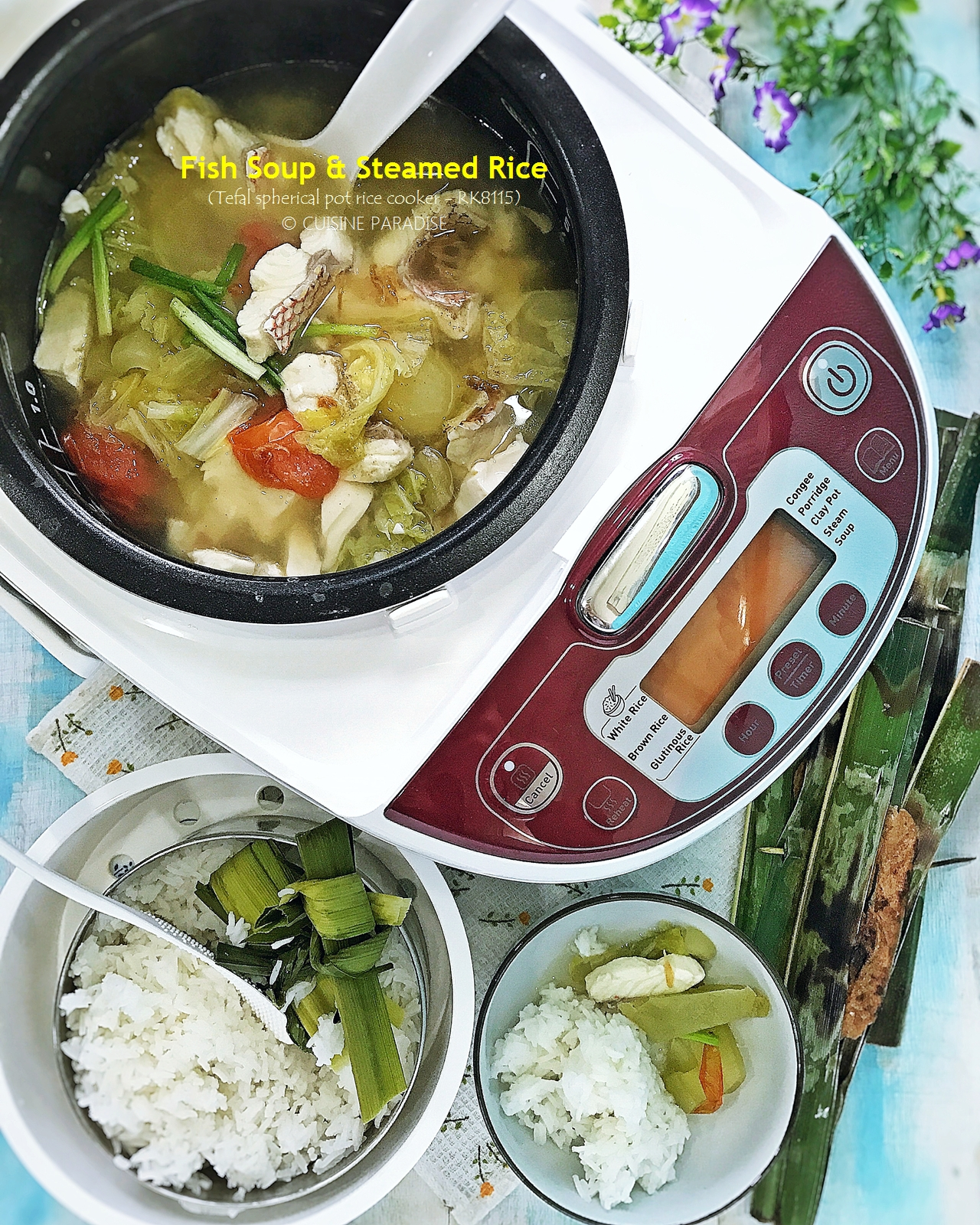 Cuisine paradise singapore food blog recipes reviews and travel recipes videos 3 one pot meal with tefal advanced spherical pot rice cooker forumfinder