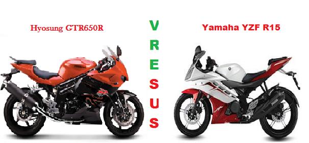 Yamaha YZF Vs Hyosung GTR650R
