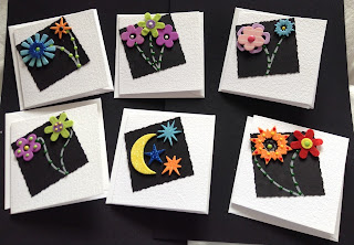 """Quick and easy cards 3"""" square in cream or white"""