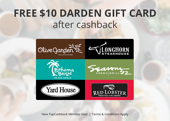 F r e e 10 darden gift card good at red lobster olive - Olive garden gift card at red lobster ...