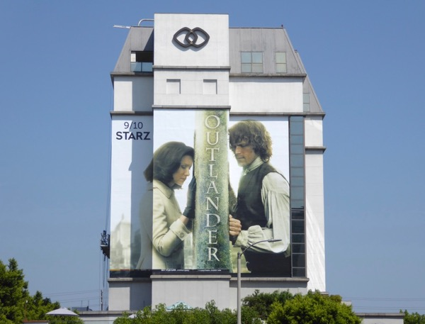 Giant Outlander season 3 billboard